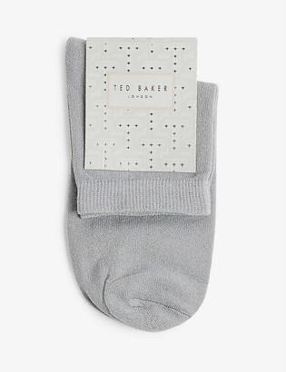 Ted Baker Lustia metallic-woven socks