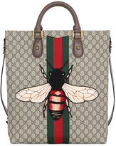 Gucci Bee Patch Gg Supreme Tote Bag