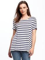 Old Navy Striped Lace-Back Swing Top for Women