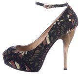 McQ by Alexander McQueen Printed Peep-Toe Pumps