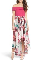 Eliza J Petite Women's Crepe & Chiffon Dress