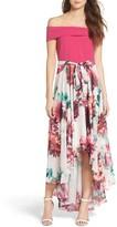 Eliza J Petite Women's Crepe & Chiffon Dress