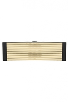 Quiz Black and Gold Metallic Cosret Belt
