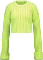 MM6 MAISON MARGIELA Neon cropped wool sweater