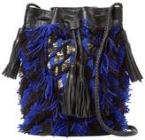 Antik Batik Arteos Cotton Fringe Bucket Bag