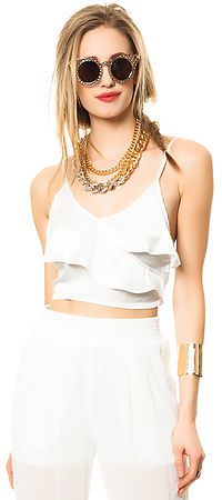 *MKL Collective The Sunset Top in Ivory