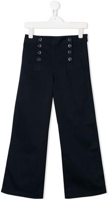 Ralph Lauren Kids Plain Wide Leg Trousers