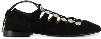 Toga Pulla Lace-Up Ballerina Shoes