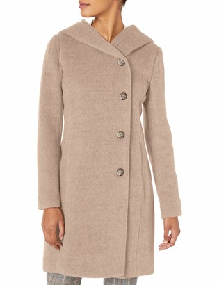 Cole Haan Women's Alpaca Blend Dropped Shoulder Coat