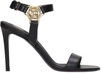 Balmain Sandals In Black Leather