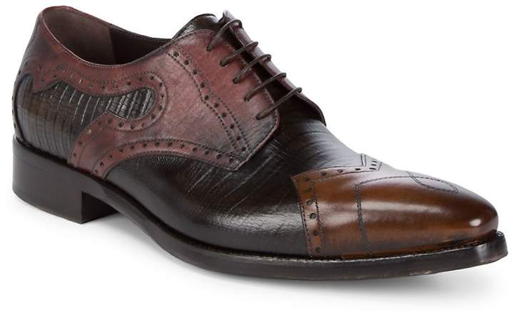 Jo Ghost Men's Wingtip Leather Derbys