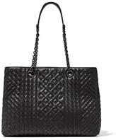 Bottega Veneta Shopping Intrecciato Leather Tote - Black