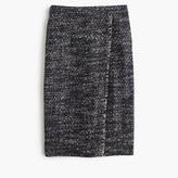 J.Crew Faux-wrap pencil skirt in metallic tweed