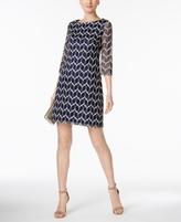 Jessica Howard Petite Printed Shift Dress