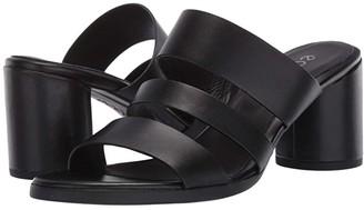 Ecco Shape 65 Block Sandal (Black Cow Leather) High Heels