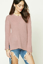 Forever 21 FOREVER 21+ Boxy Side-Slit Sweater