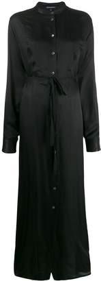 Ann Demeulemeester button down tie waist dress