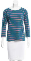 Band Of Outsiders Striped Scoop Neck Top