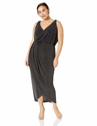City Chic Women's Apparel Women's Plus Size Solid Drapey Maxi Dress
