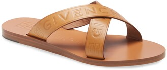 Givenchy 4G Logo Crisscross Slide Sandal