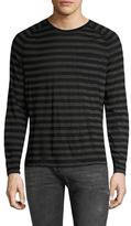 John Varvatos Saddle Shoulder Chest Pocket & Pickstitch Sweater