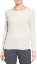 Nordstrom Button Back Cashmere Pullover