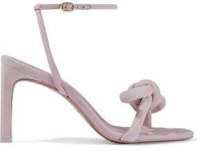 Zimmermann Structural Bow Embellished Suede Sandals