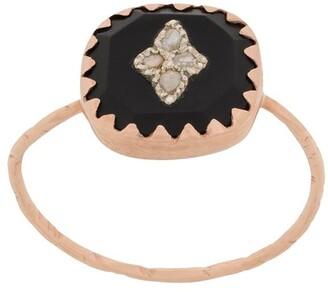 Pascale Monvoisin 9kt rose gold PIERROT BLACK ring
