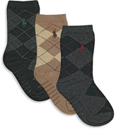 Ralph Lauren Toddler Boys' Argyle Sock 3 Pack - Little Kid