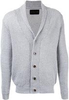 ESTNATION ribbed cardigan - men - Linen/Flax - S