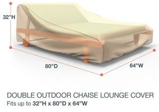 Budge Waterproof Outdoor Patio Chaise Lounge Cover, Sedona, Tan, Multiple Sizes