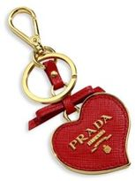 Prada Saffiano Leather Heart Keychain