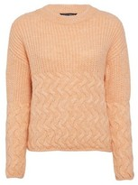 Dorothy Perkins Womens Coral Cable Hem Chunky Jumper, Coral
