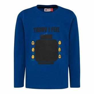 Lego Wear Boys' Lego LWTIGER beschreibbar mit Kreide Longsleeve T - Shirt
