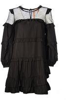 N°21 N° 21 Black Mesh And Frills Dress