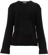Bottega Veneta - Waffle Knit Cotton Blend Sweater - Mens - Black