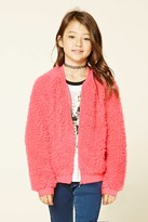 FOREVER 21 girls Girls Loop Knit Jacket (Kids)