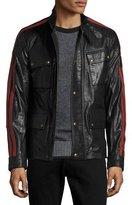 Belstaff Daytona Waxed Leather Jacket w/Racing Stripes