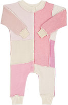 Agua Patchwork Mixed-Stitch Cashmere Playsuit-Pink