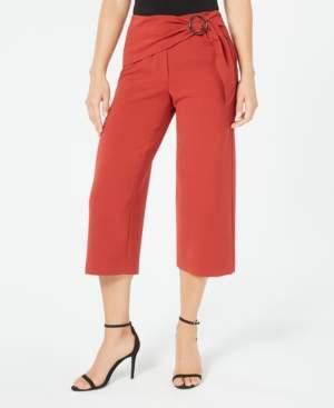 Alfani Sash-Belt Cropped Pants, Created for Macy's