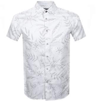 Ted Baker Short Sleeved Damiem Shirt White