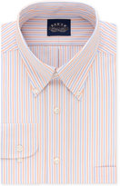 Eagle Men's Classic/Regular Fit Non Iron Flex Collar Orange Stripe Dress Shirt