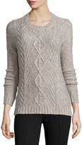 ST. JOHN'S BAY St. John's Bay Marled Cable Pullover - Tall