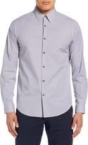 Theory Irving Douglas Slim Fit Diamond Grid Button-Up Shirt
