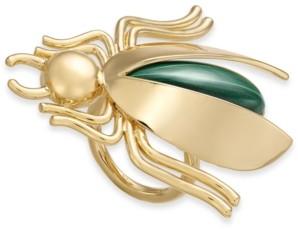 Kate Spade Gold-Tone Malachite Bug Statement Ring