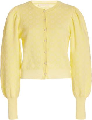 LoveShackFancy Larsen Intarsia Cotton-Blend Cardigan