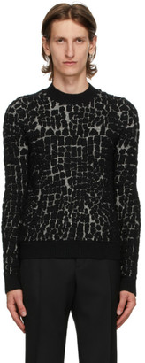 Saint Laurent Black Wool and Mohair Sweater