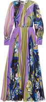Emilio Pucci Printed Silk-chiffon Gown - Purple