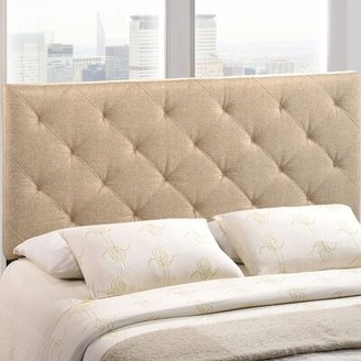 Andover Mills Bria Upholstered Panel Headboard Size: Full, Upholstery: Beige