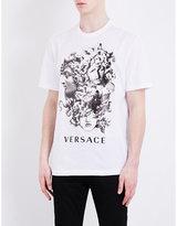 Versace Stone Medusa-print Cotton-jersey T-shirt